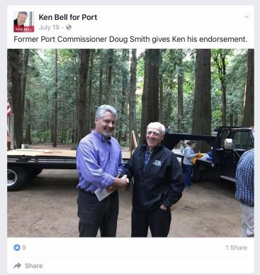 ken bell at whatcom republicans picnic with doug smith