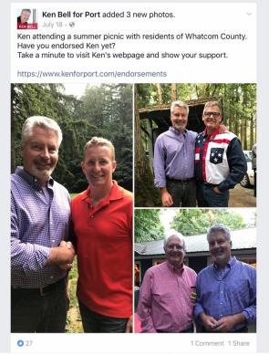 ken bell at whatcom republicans picnic with electeds