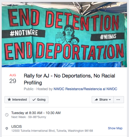 rally for aj nwdc resistance