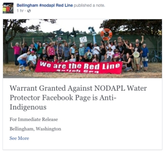 redline salish sea press release warrant