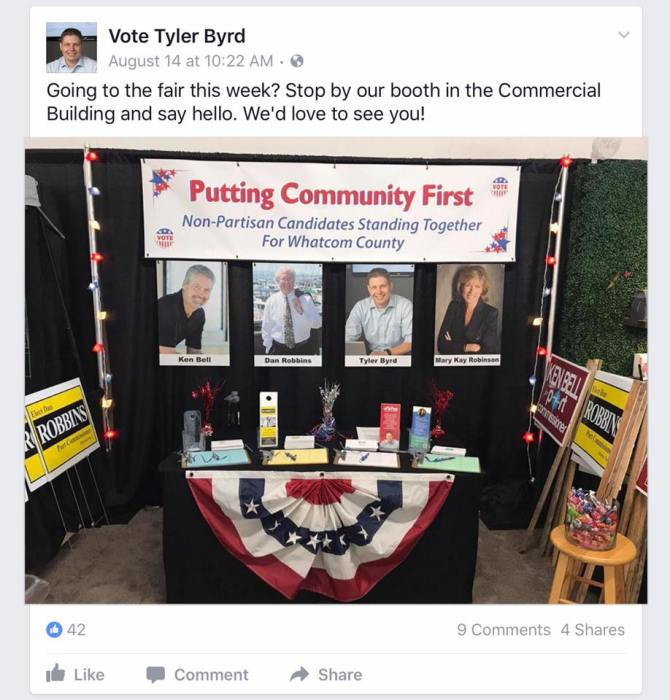 whatcom republicans at the fair booth