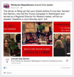 whatcom republicans lincon day dinner ad