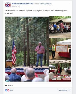 whatcom republicans picnic dan robbins speaking