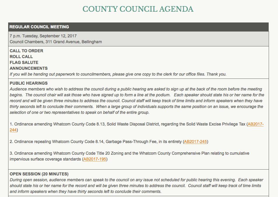 council agenda 091217