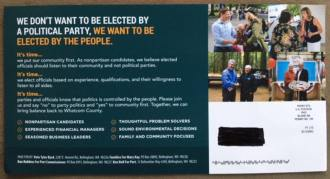 nonpartisan flyer