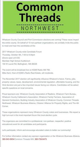 common threads press release candidate forum