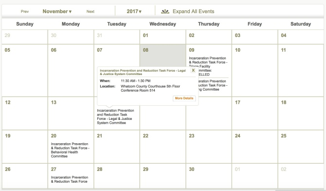 IPRTF meeting calendar