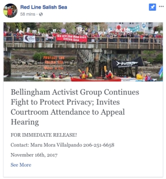 red line salish sea press release seattle hearing