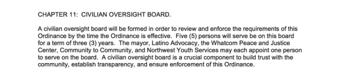 Civilian Oversight Board Chapter 11 KBFW