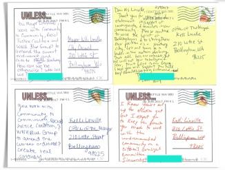 postcards to mayor redacted aqua