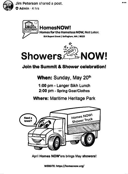 shower truck poster