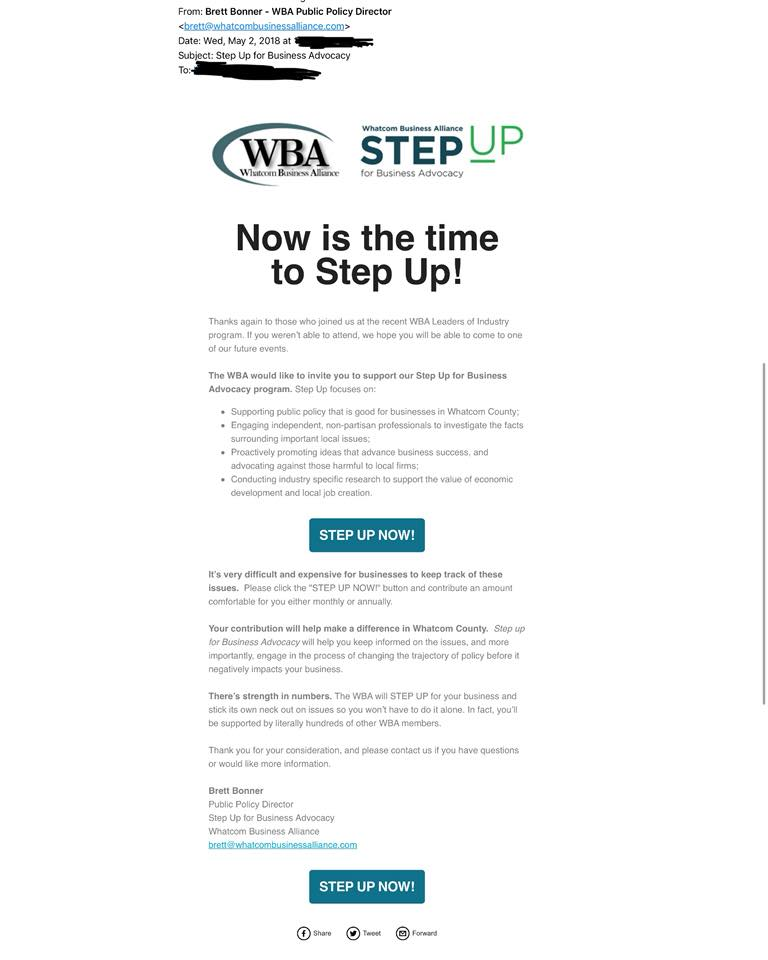 step up newsletter May 2 2018