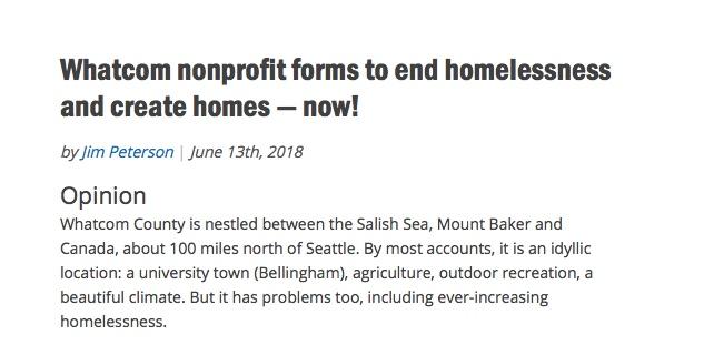 homesnow real change op ed blurb