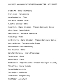 List of applicants for the Business and Commerce Advisory Committee Page 1
