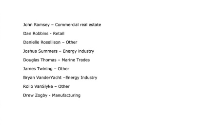 List of applicants for the Business and Commerce Advisory Committee Page 2