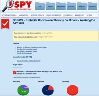 Ericksen no on stopping conversion therapy