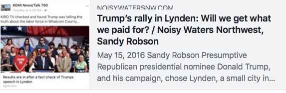 trump rally for fire doug