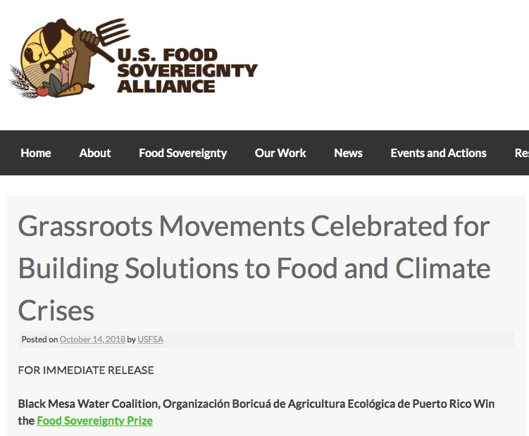US Food Sovereignty Alliance Prize