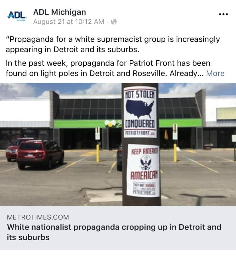 Numerous news stories reporting recent distribution of white