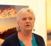 Still frame of November 2019 Candidate for Whatcom County Sheriff Joy Gilfilen from a video on her campaign Facebook page