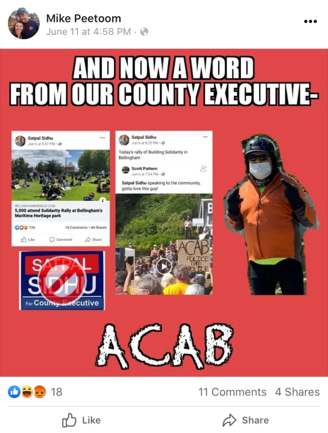 MIke Peetom post - word from county executive